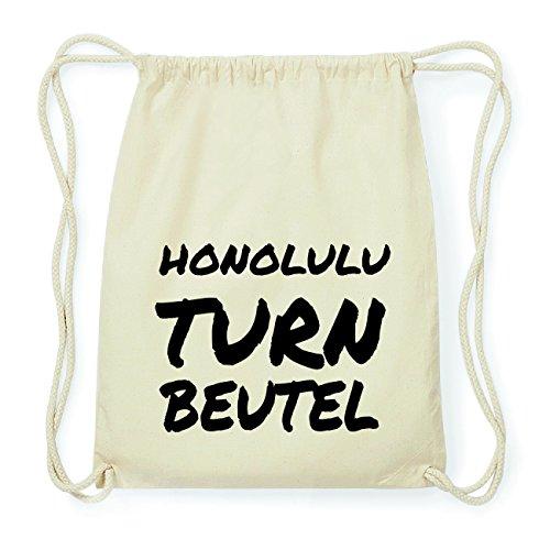 JOllify HONOLULU Hipster Turnbeutel Tasche Rucksack aus Baumwolle - Farbe: natur Design: Turnbeutel