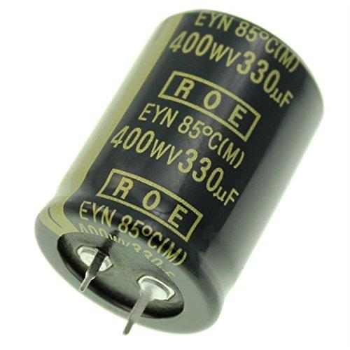 2x Snap-In Electrolytic Capacitor 330/µF 400V 85/°C ; EYN07BB333X02K ; 330uF