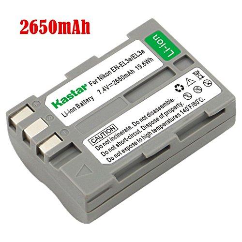 Kastar Battery (1-Pack) for Nikon EN-EL3e, EN-EL3a, EN-EL3, MH-18, MH-18a work with Nikon D50, D70, D70s, D80, D90, D100, D200, D300, D300S, D700 Cameras and MB-D10, MB-D80 Grips