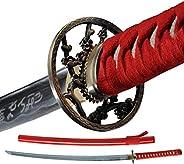 Samurai Katana Warrior Sharp Sword 1060 High Carbon Steel Full Tang Japanese Hand Forge Scabbard