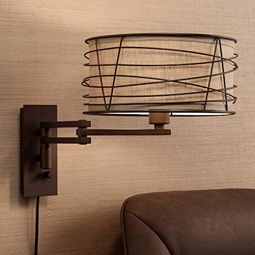 Franklin Iron Works Marlowe Bronze Metal Swing Arm Wall Lamp - Franklin Iron Works