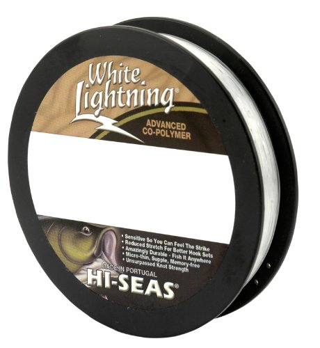 Hi-Seas White Lightning Co-Polymer Line, Fluorescent Clear, 10-Pound Spool Test, 1-Pound Spool For Sale