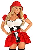 Daisy corsets Women's Top Drawer Plus Size 3 Piece Red Riding Hood Costume