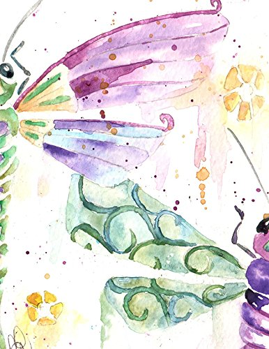 Blank Note Cards: 6 Blank Artistic All Occasion Watercolor Cards, With Envelopes - Dragonflies Zen