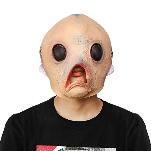 Large Head Halloween Costume (WloveTravel Novelty Halloween Party Costume Party Latex Head Mask (Alien Mask))