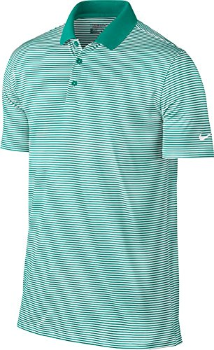 Nike Rio Game - NIKE Victory Mini Stripe Men's Golf Polo (Rio Teal/White, 2XL)