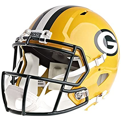ae99ad3247d Amazon.com   Riddell Green Bay Packers Officially Licensed Speed Full Size  Replica Football Helmet   Sports   Outdoors