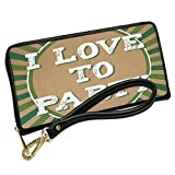 Wallet Clutch I Love To Party St. Patrick's Day Retro Design with Removable Wristlet Strap Neonblond