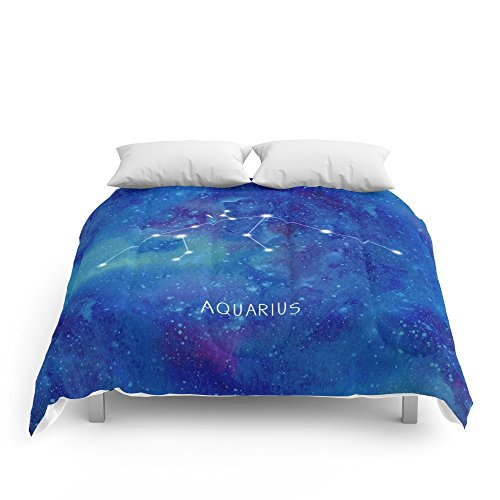 Society6 Constellation Aquarius Comforters Queen: 88