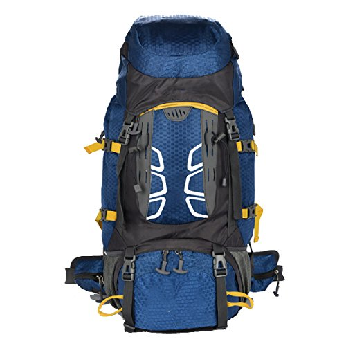Yy.f 55L Acampar Al Aire Libre Bolsa De Viaje Impermeable Mochila Bolsa De Viaje De Excursión De Gran Capacidad De Múltiples Funciones Mochila De Viaje. Multicolor Blue