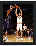 Framed Andrea Bargnani - '06 / '07 Action- 8x10 Inches - Art Print (Classic Black Frame)