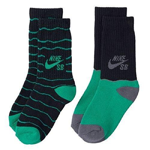 Nike SB 2-Pack Crew Socks Boys Youth 3Y-5Y//7-9