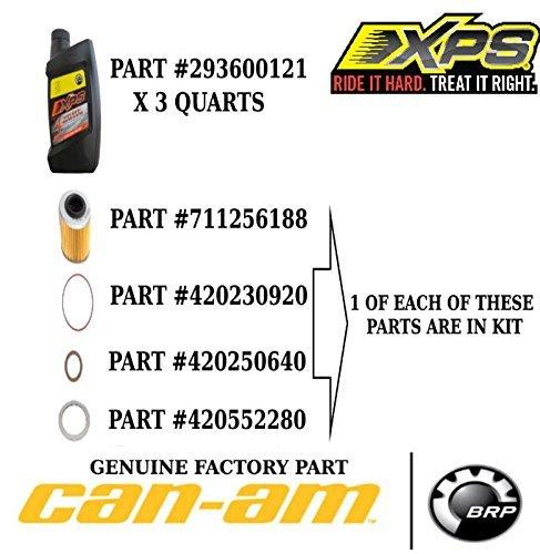 Can Am Maverick Commander Renegade Outlander Oil Change Kit Synthetic Blend #703500904 by BRP