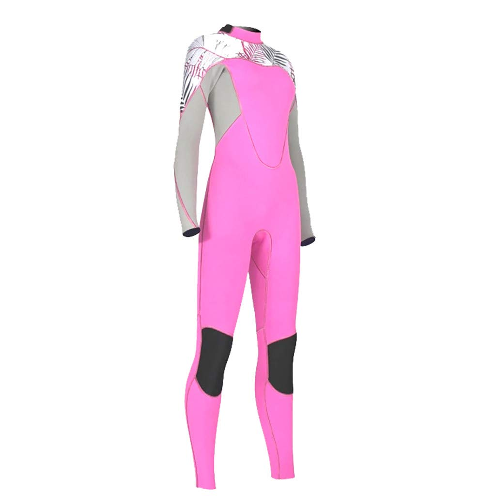 Excursion Sports Women One Piece Rash Guard, UV Protection Long Sleeves Stretch Full Body Wetsuit, Zipper Skin Bathing Suit for Swimming/Scuba Diving/Snorkeling/Surfing by Excursion Sports