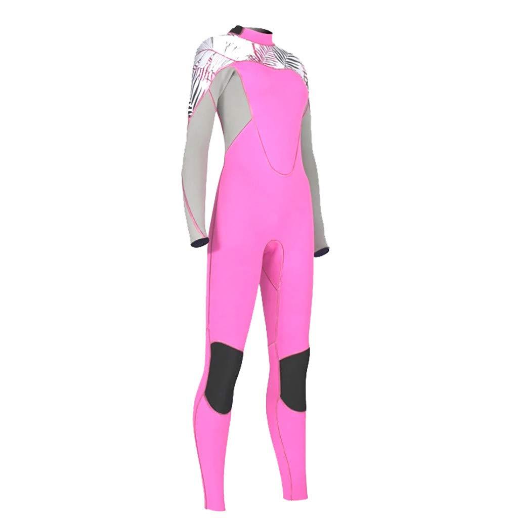YEZIJIN Women's Stretch Full Body Wetsuit Surf Swim Diving Steamer 2019 New Best Pink