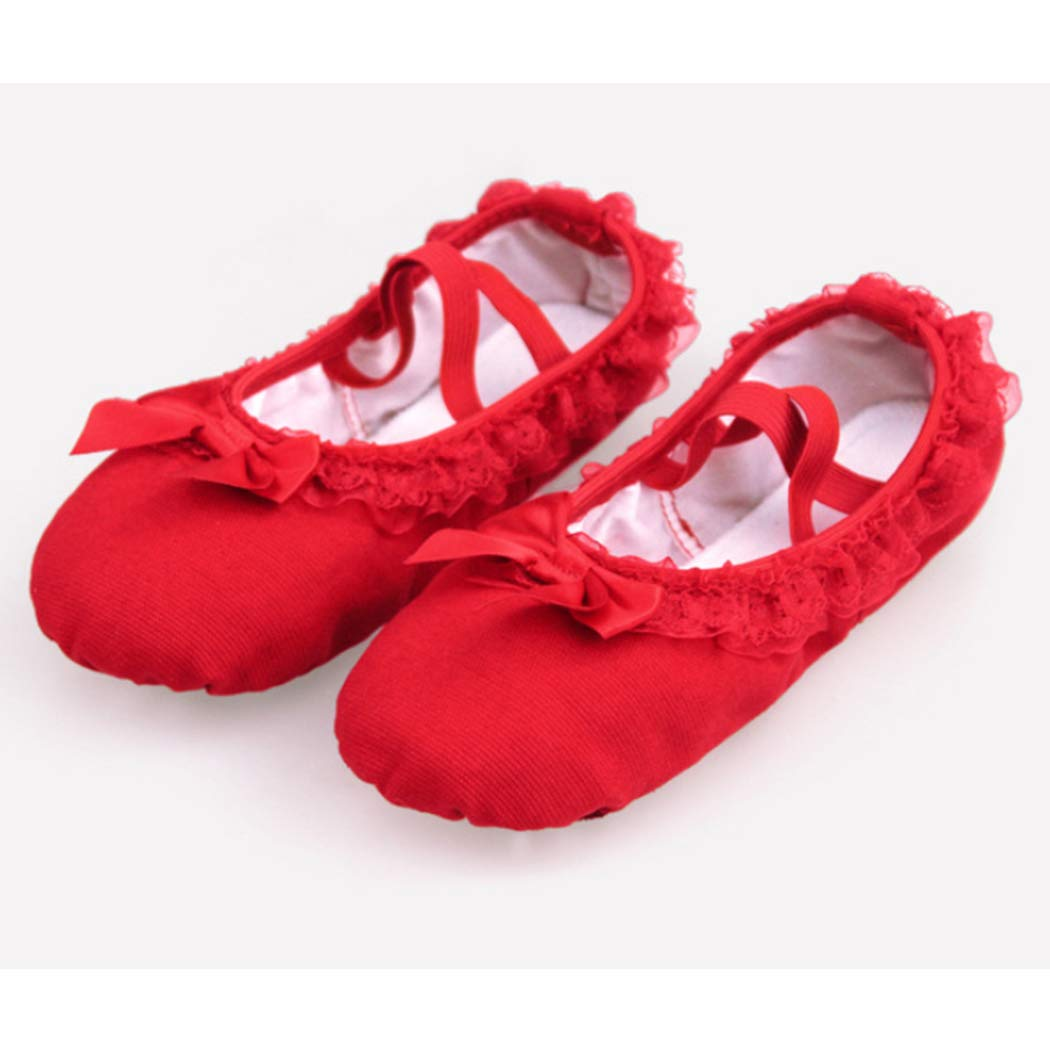 Raylans Ballet Shoes for Girls//Toddlers//Kids//Women,Canvas Ballet Slippers//Dance Shoes Pink//Nude//Red