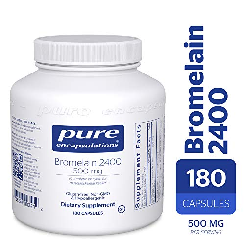 (Pure Encapsulations - Bromelain 2400-500 mg - Hypoallergenic Dietary Supplement for Digestive Support* - 180 Capsules)