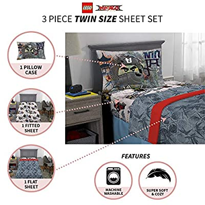 LEGO Ninjago Warriors Sheet Set, Twin: Home & Kitchen