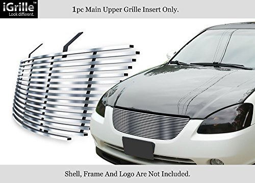 Compatible with 2002-2004 Nissan Altima Stainless Steel Billet Grille Insert N85406C