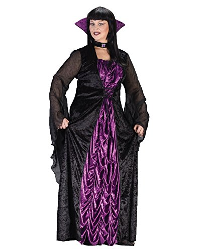 Countess Of Darkness Vampiress Classic Sorceress Plus Size Theatre Costumes Sizes: One (Daughter Of Darkness Halloween Costume)
