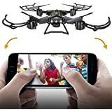 CSFLY WIFI FPV Rc Drone 2MP HD Camera Live Video Remote Control Quadcopter With 2.4G 4 Channel 6 Axis Gyro Remote Control Drone & 3D Flip Headless Mode and One Key Return Foldable Rc Quadcopter