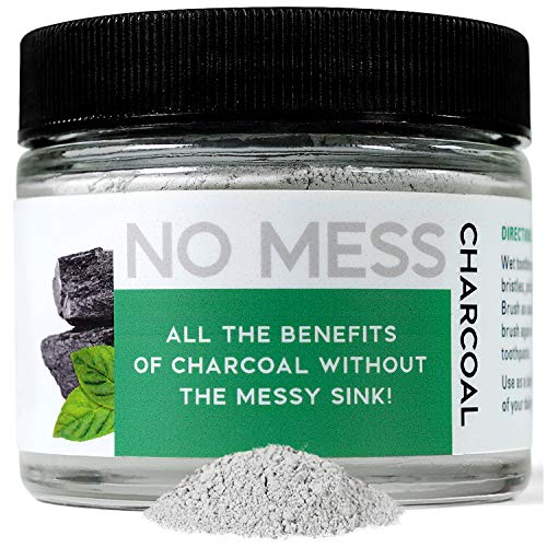 No Mess Activated Charcoal Teeth Whitening Powder, Fluoride Free Formula, Fresh Mint Flavor, 2 Ounces