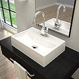 Cuba de Apoio para Banheiro Q45W Retangular Compace Branco