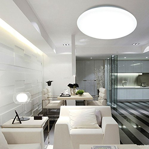 Ceiling Lamp Installation Cost: AFSEMOS 14-Inch LED Flush Mount Ceiling Light, 18W,4500K