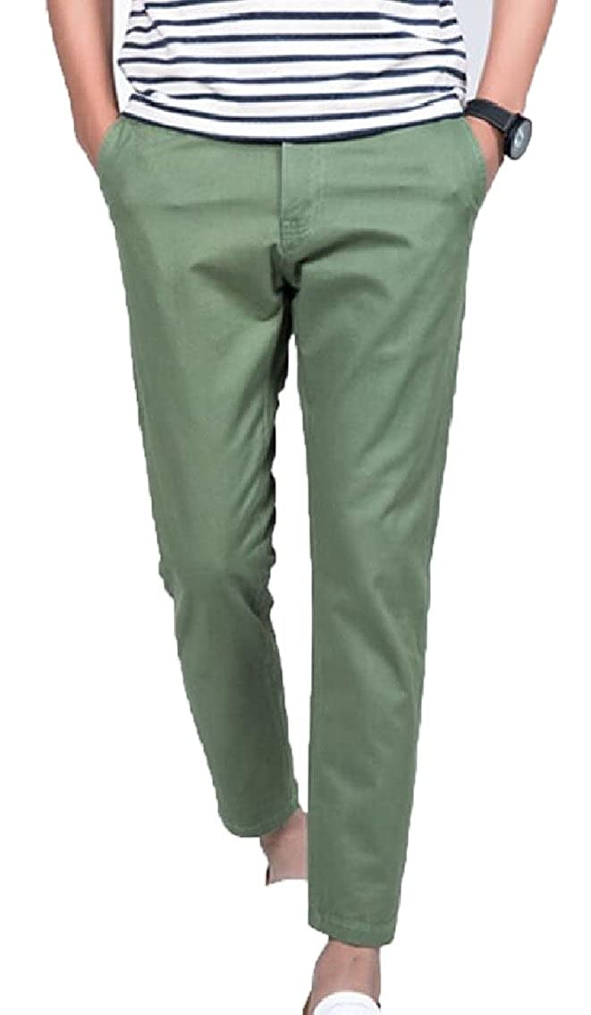 omniscient Mens Casual Stretch Pant Comfort Straight Leg Trousers