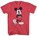 Disney Mickey Mouse Classic Standing Pose T-shirt (Medium, Heather Red)