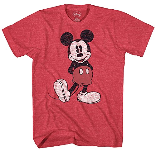 Disney Mickey Mouse Classic Standing Pose T-Shirt (XXXL, Heather -