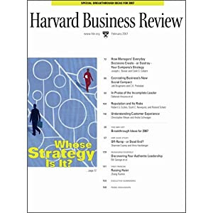 Harvard Business Review, February 2007 Periodical