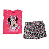 Disney Minnie Mouse Baby Girls Ruffle Sleeve T Shirt & Short Outfit - Pink