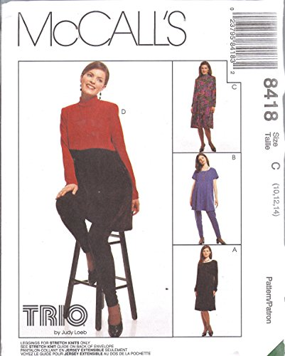 - 8418 McCalls Sewing Pattern Maternity Dress Tunic Leggings Size 8-12