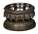 Unleashed Life Baroque Collection – Raised Single Dog & Cat Bowl Food Stand For Sale
