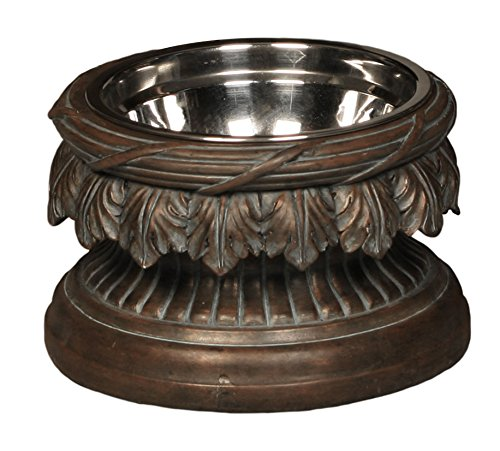 Unleashed Life Baroque Collection – Raised Single Dog & Cat Bowl Food Stand