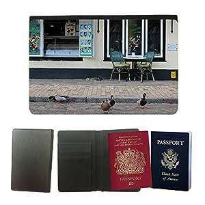 Hot Style PU Leather Travel Passport Wallet Case Cover // M00113090 Mallard M??tzente Ducks // Universal passport leather cover