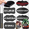 Chalkboard Labels New Complete Bundle 126 Premium Stickers For Jars Erasable White Chalk Marker Best Large Reusable Chalkboard Labels Liquid Chalk Pen To Decorate Your Pantry Storage Office