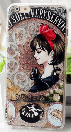Sagittarius.kyt Mucha-style relief Heroines of MIYAZAKI movies Cellphone case for iphone6,6s (Kiki's Delivery Service)