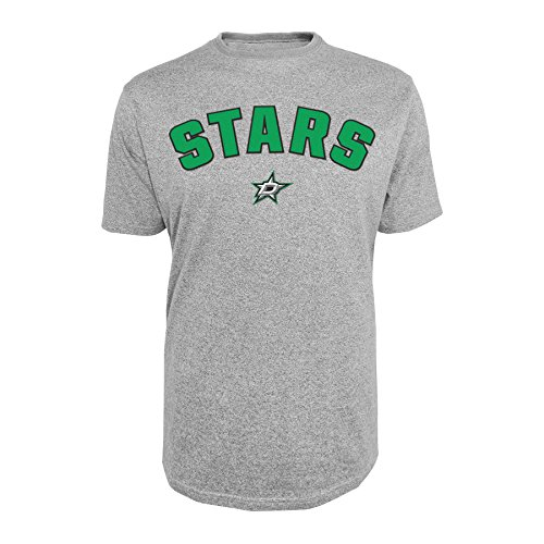 - Knights Apparel NHL Dallas Stars Men's Tee, Large, Gray Heather