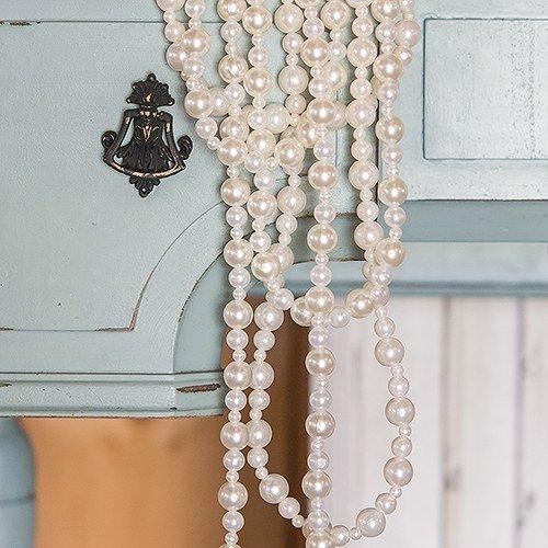 Decorative Pearl Garland White