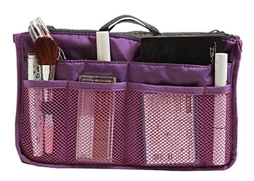 New Lady Women Insert Handbag Organiser Purse Large Liner Organizer Inner Bag Tidy Travel Handbag 6