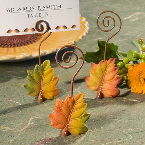 Leaf Design Place Card Holders - 216 count by Fashioncraft