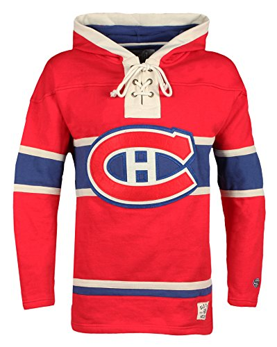 Old Time Hockey NHL Montreal Canadiens Men's Lacer Heavyweight Hoodie, 3X-Large, - American Heritage Hoodie