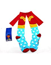 Women High Knee Socks Mermaid Superhero Batman Funny Cosplay Costume Stockings Wonder Woman