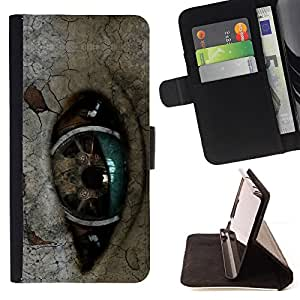 BullDog Case - FOR/LG Nexus 5 D820 D821 / - / Robot Eye /- Monedero de cuero de la PU Llevar cubierta de la caja con el ID Credit Card Slots Flip funda de cuer