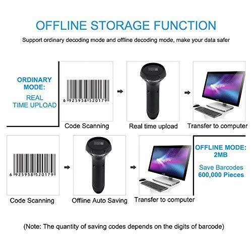 FREESOO 2d Barcode Scanner USB Wireless Bluetooth 1d QR