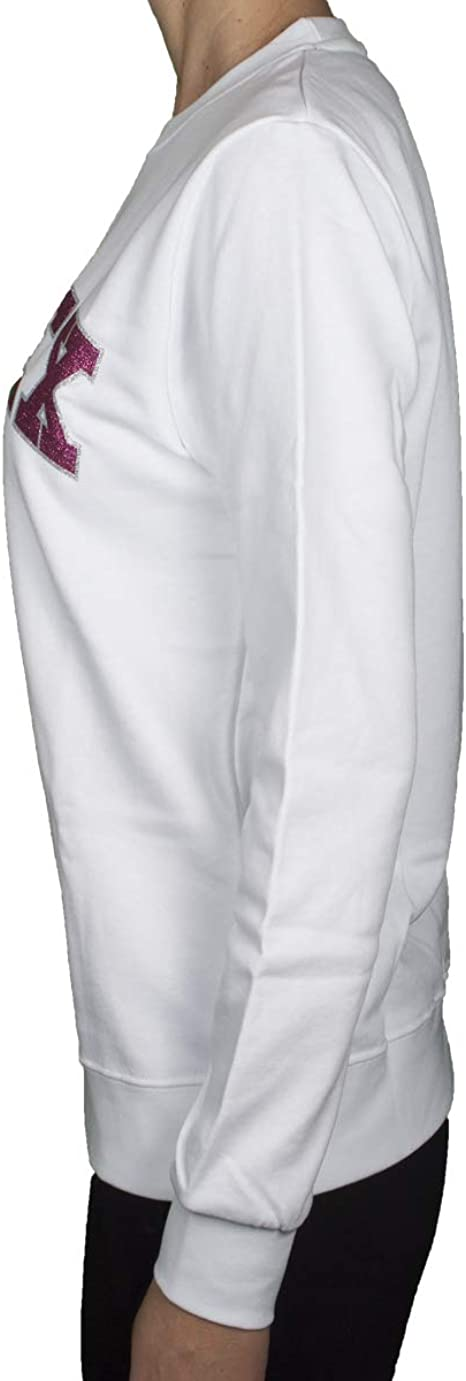 Pyrex 19EPB40026 Felpa Girocollo Stampata in Lurex Bianco