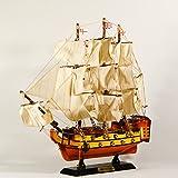 EliteTreasures Wooden Model Ship Victory 16'' Collectible Figurine - Wooden Ship Model - Famous Ship Nautical Decor - Decorative Collectible - Model Sailing Boat - Ship Decor