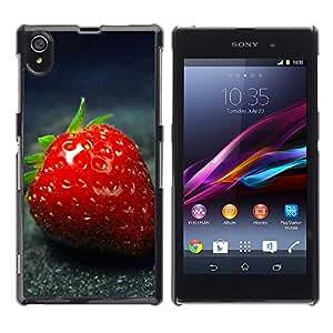 Paccase / SLIM PC / Aliminium Casa Carcasa Funda Case Cover - Strawberry - Sony Xperia Z1 L39 C6902 C6903 C6906 C6916 C6943